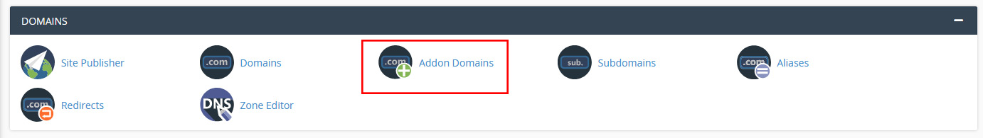 add-on domain in cpanel