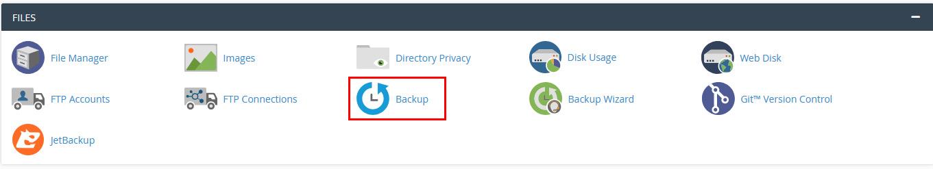 backup app cpanel